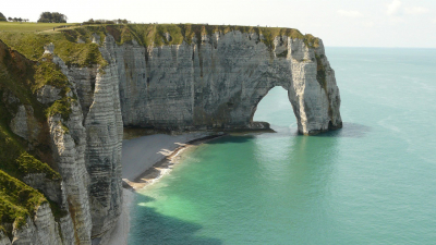 Cliffs Etretat Normandy France Erosion
